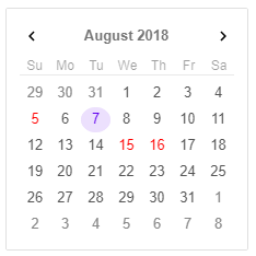 Angular 7 Calendar | Calendar | jQWidgets for Angular