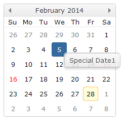jQuery Calendar, Date Picker, JavaScript Calendar, Month Calendar