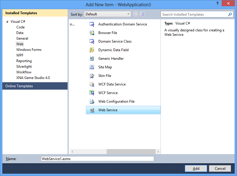 how to create web service in asp net