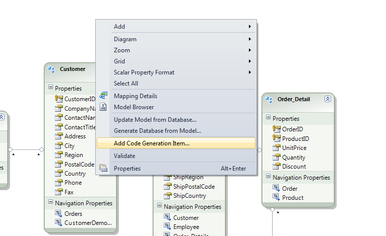 Entity framework code generation strategy disabled dating 8