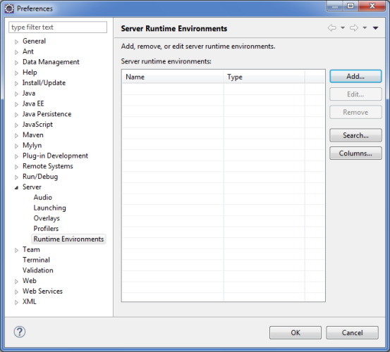 Configure MySQL, Eclipse and Tomcat for Use with jQWidgets