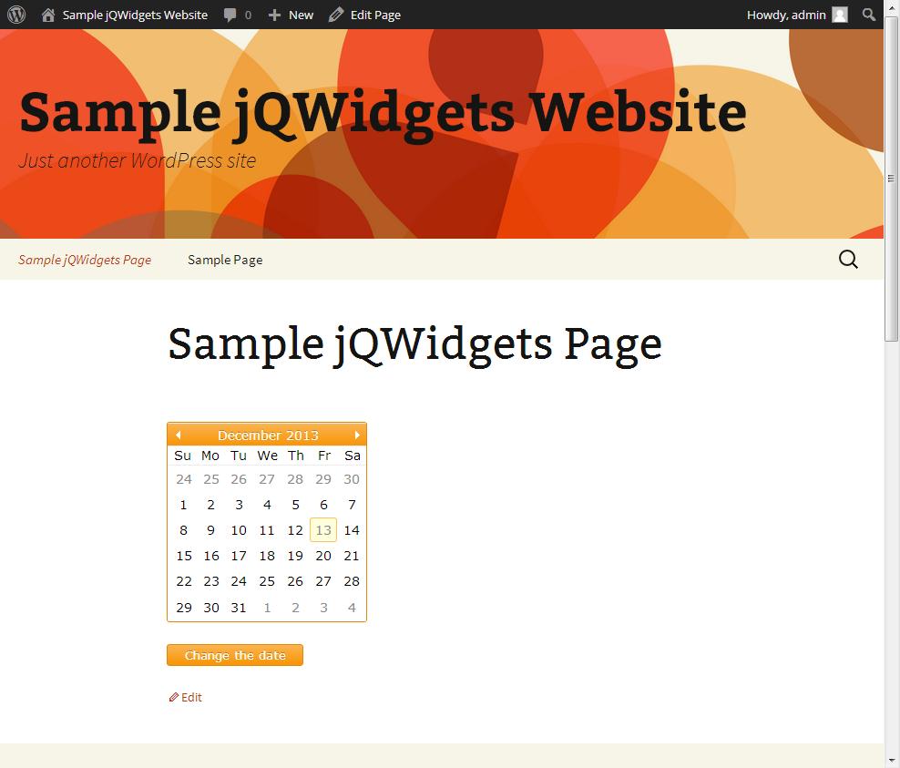 Using jQWidgets with Wordpress