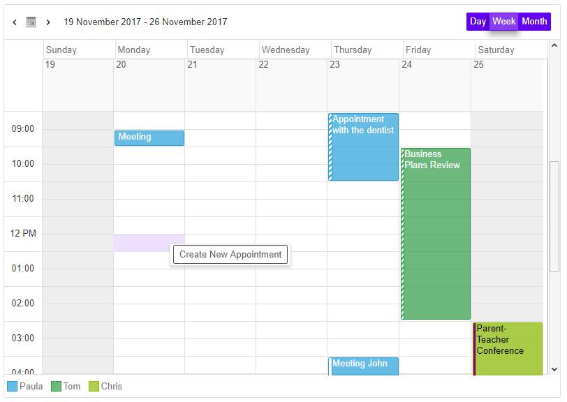 Vue Scheduler Component