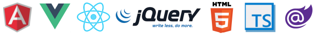 jQWidgets works in HTML5, jQuery, AngularJS, Angular2, TypeScript