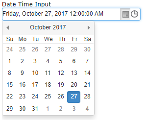 Angular DateTimePicker - Javascript, HTML5, jQuery Widgets