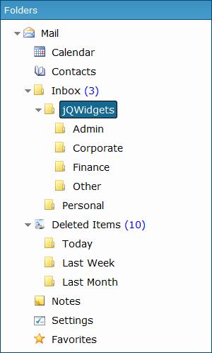jQuery Tree Widget - Javascript, HTML5, jQuery UI Widgets