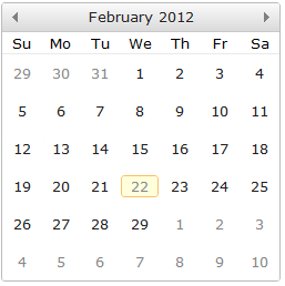 jqxCalendar - Feature Complete Calendar widget built with jQuery