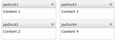 jquery docking widget