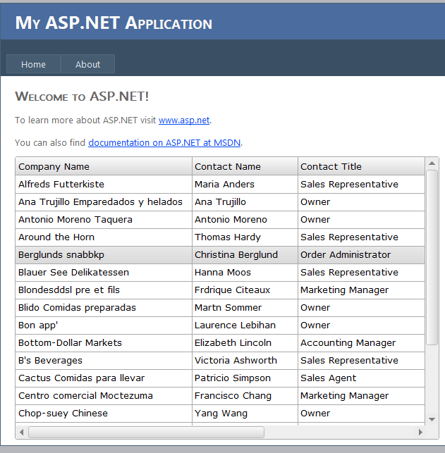Using ASP .NET Web Service With JQuery Grid