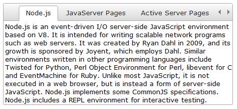 jqxTabs - jQuery Tabs Widget - Javascript, HTML5, jQuery Widgets