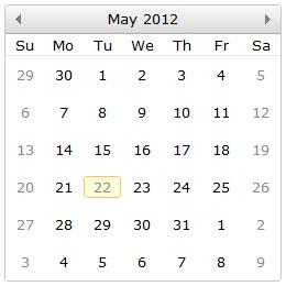 jqx-calendar-weekends